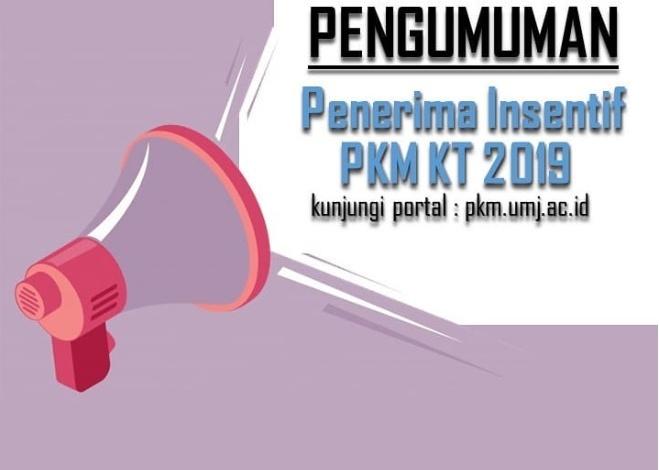 Penerima Insentif PKM KT 2019