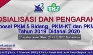 Sosialisasi & Pengarahan PKM 2019/2020