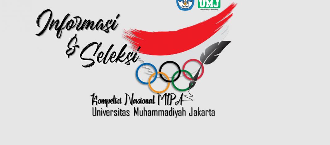 Informasi dan Pendaftaran Peserta Seleksi KN-MIPA 2020