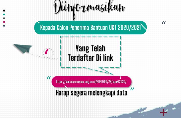 Calon Penerima Bantuan UKT 2020/2021