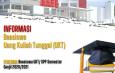 Daftar Penerima Beasiswa UKT/SPP Semester Ganjil 2020/2021 (KEMDIKBUD/LLDIKTI III)